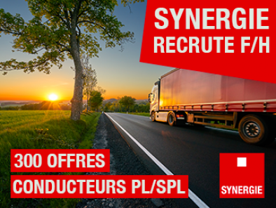 Synergie recrute 300 chauffeurs F/H