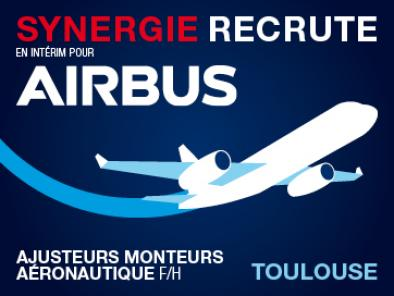 Synergie recrute pour AIRBUS à Toulouse