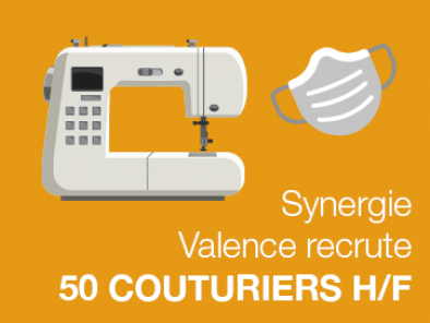 Synergie recrute des couturiers F/H à Valence